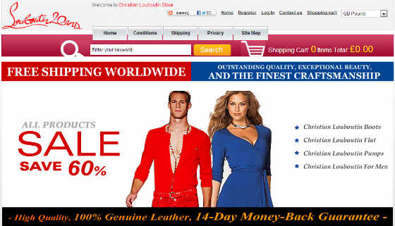Screen Shot of Counterfeit Site 3