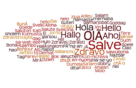 picture of word cloud saying hello in different languages source: created by author