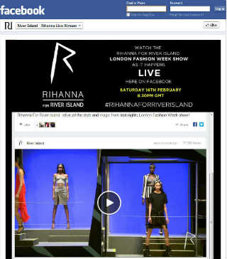 Screenshot - Rihanna for River Island London Fashion Week - riverisland.com