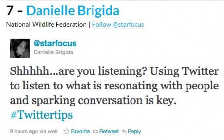 Twitter Tips From Danielle Brigida