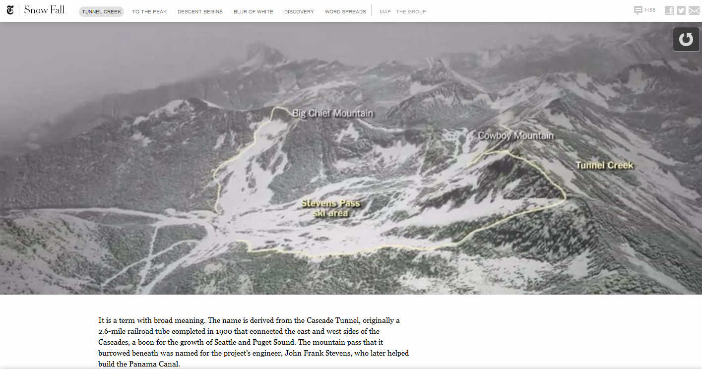 Image of the New York Times Snow Fall Project
