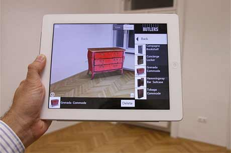 Example pic of a tablet showing augmented reality