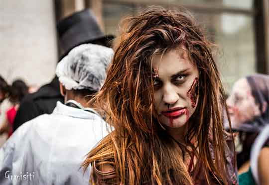 Supporting graphic - photo of woman as a zombie