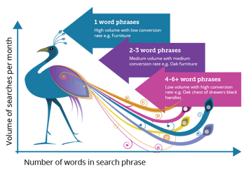 long tail seo diagram graphic