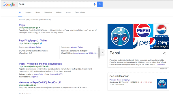 Google Brand Page