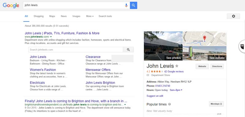 John Lewis Search