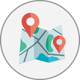Map pins - supporting graphic