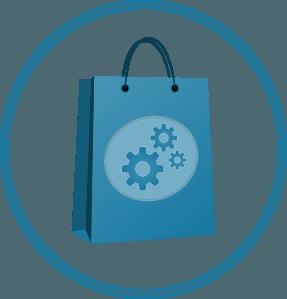Shopping feed customisation graphic
