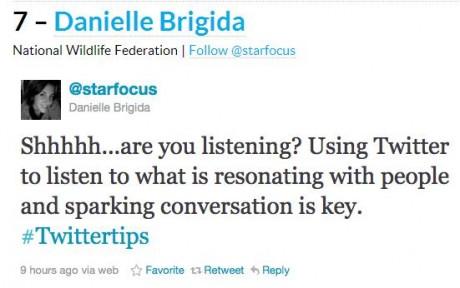 Twitter Tips From Danielle Brigida