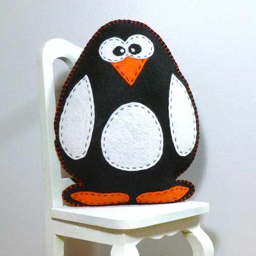 A stuffed penguin