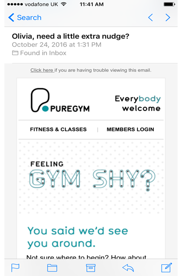 Gym Reminder Emails