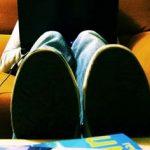 Feet on sofa