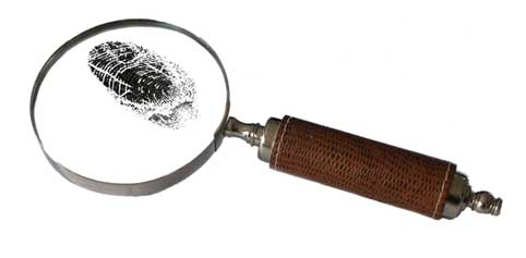 Suppoting Photo - magnifying glass