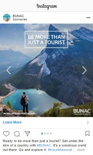 Supporting image - Screenshot BUNAC