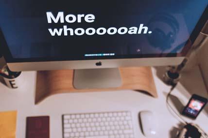 Photo of desktop computer screen