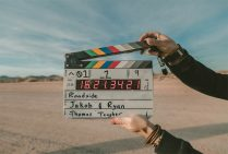 Supporting photo - film clapper board