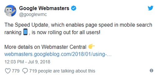 Google webmasters screenshot
