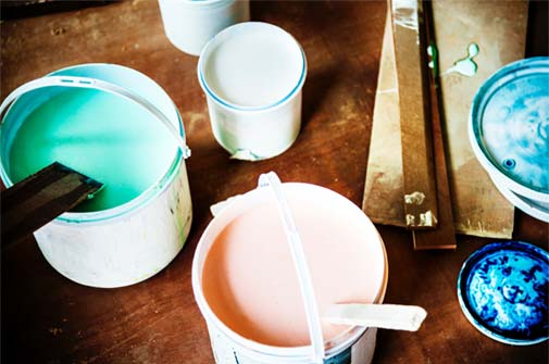 Supporting photo - pots of paint