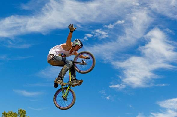 man on a BMX - supporting image