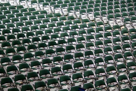rows of folding chairs
