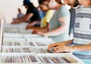 People browsing records