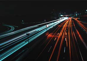 Timelapse cars at night