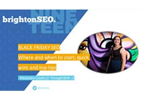 Alexandra speaks at Brighton SEO