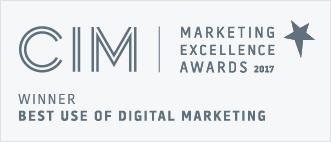 CIM Winner best use of digital marketing 2017