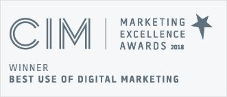 CIM Winner best use of digital marketing 2018