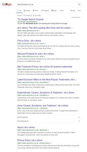 Google Keywords screen shot