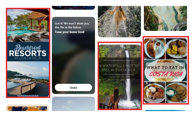 Leveraging Pinterest - supporting screenshot