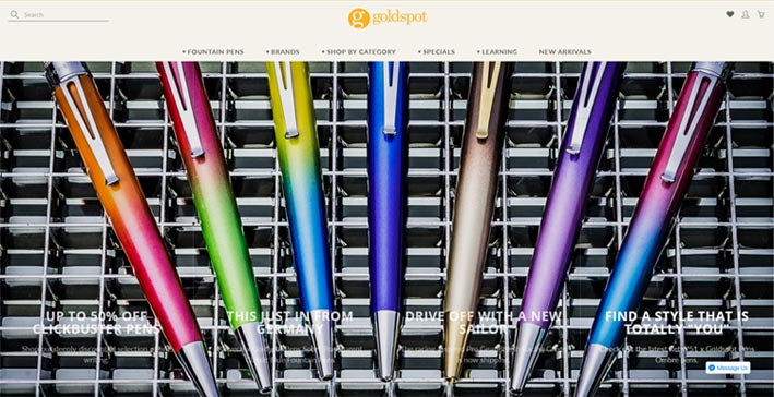 Goldspot pen
