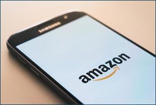 Amazon on a phone
