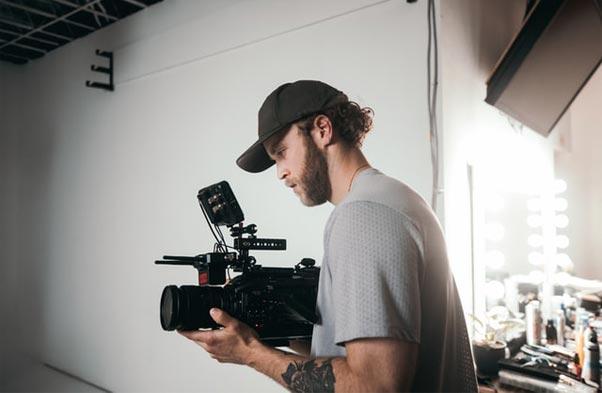 Man making a video